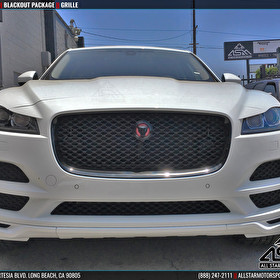 White Jaguar F-PACE Grille Blackout Package