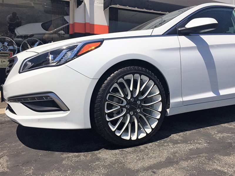 2015 Hyundai Sonata With Custom White And Black Km693 Maze