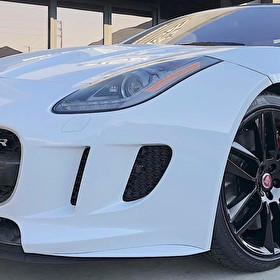 White Jaguar F-Type R | Blackout Package | Powder Coated Black Wheels