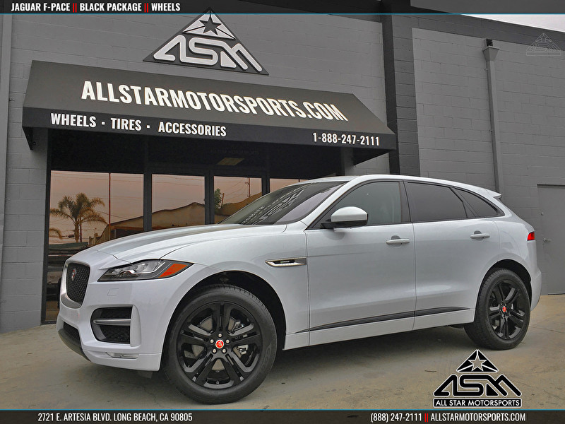 White Jaguar F-PACE | Blackout Package | Powdercoated Wheels