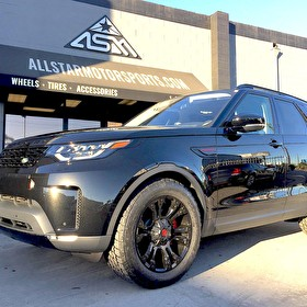 Land Rover Newport Beach | 2017 Land Rover Discovery Blackout Package (Red Trim) | Powder Coated Red Calipers | 20x9 Fuel D560 Vapor Wheels Nitto Terra Grappler G2 275/55R20