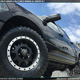 Black Dodge Ram 1500 | 18x9 KMC XD Series XD125 Enduro Black Machined Bead Ring