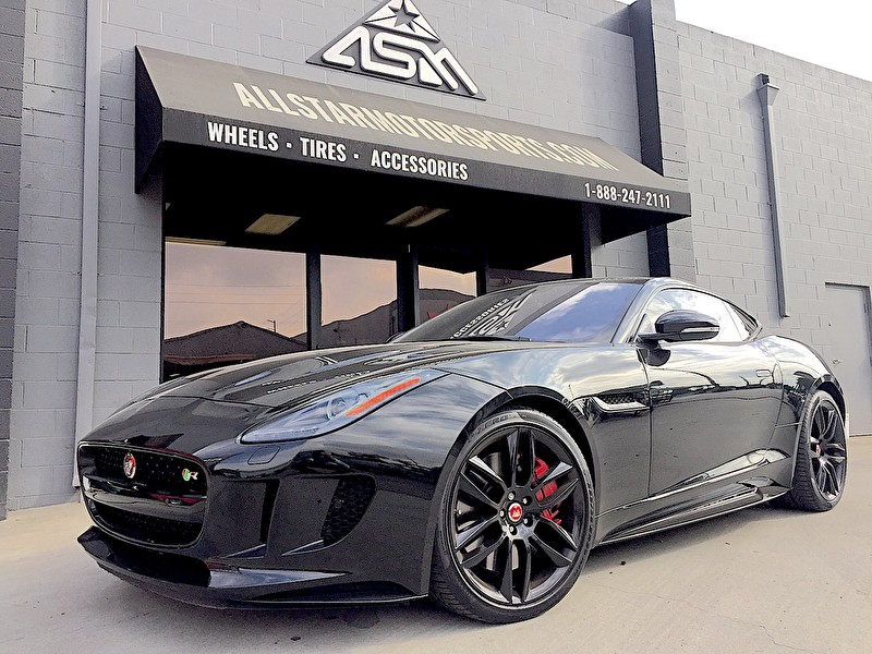 Jaguar F-Type | Black Paint | Blackout Package and Blackout Wheels