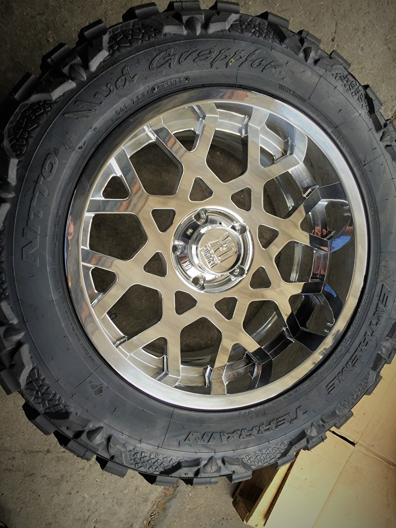 Custom Built XD Forged Chrome Finish on Nitto Mud Grappler