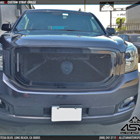 Gray GMC Yukon Denali XL Blackout and STRUT Grille Kit