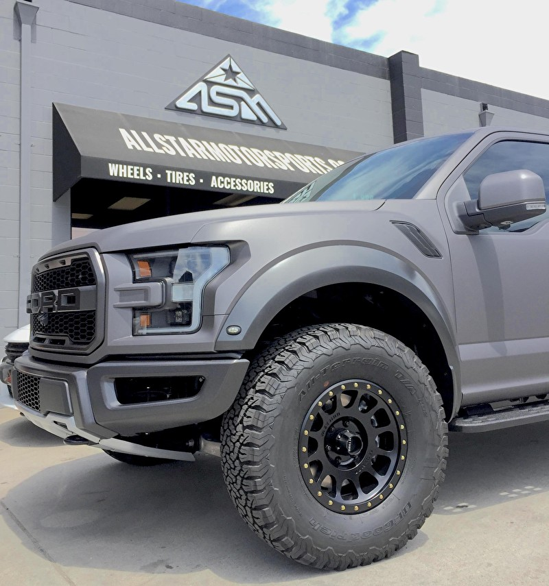 17x8.5 Method NV Matte Black on new 2017 Custom Ford Raptor