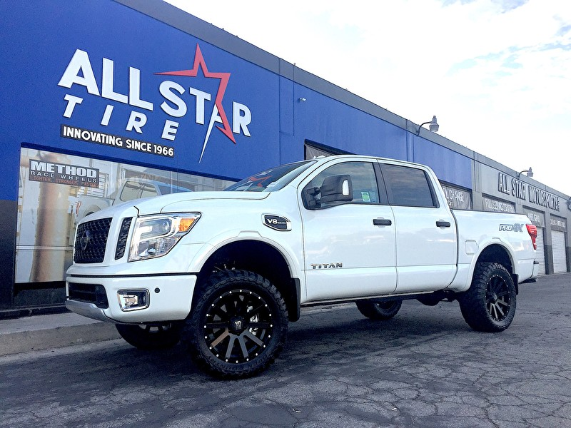 "White Nissan Titan XD on XD Series XD818 Heist | Toyo M/T 33x12.50R20 Tires | 4"" Tuff Country Uniball Lift Kit"