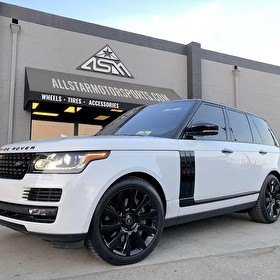 White Full Size Range Rover HSE | Blackout Package Trim and Body Panels